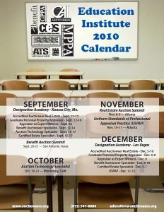 New NAA Education Institute 2010 Calendar
